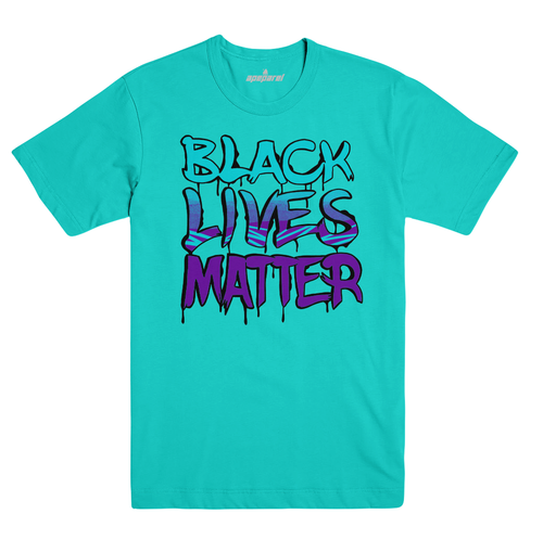 Black Lives Matter Teal Tee  #BlackLivesMatter Mural Design by Alex DeLarge, Co-founder of Southern Tiger Collective based in Charlotte, NC.  Mural Location: @ NoDa Deli - 1721 North Davidson St. Charlotte, NC 28206