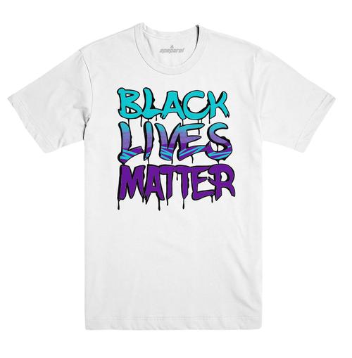 Black Lives Matter White CLT Tee  #BlackLivesMatter Mural Design by Alex DeLarge, Co-founder of Southern Tiger Collective based in Charlotte, NC.  Mural Location:  @ NoDa Deli - 1721 North Davidson St. Charlotte, NC 28206