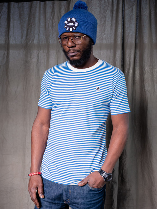 Blue Stripe Gorillo Tee