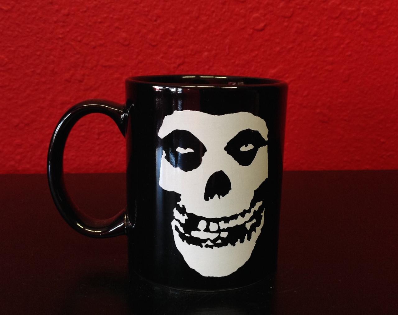 Misfits Official /'All Over Skull/' Design Brand NEW White Mug punk
