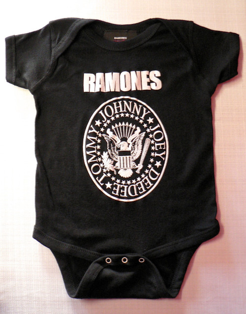 Ramones Logo Onesie in Black