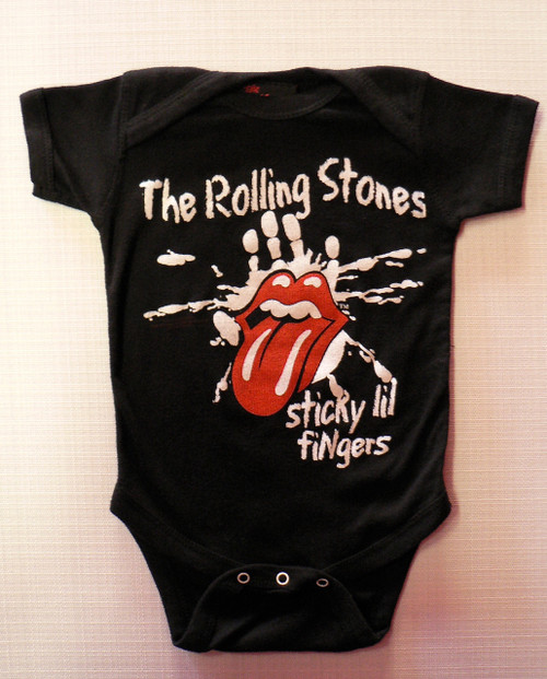 Rolling Stones Sticky Fingers Baby Onesie