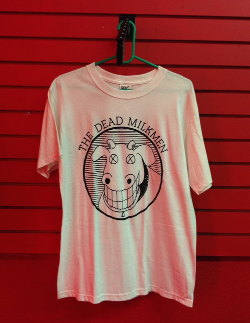The Dead Milkmen Cow Logo T-Shirt in White