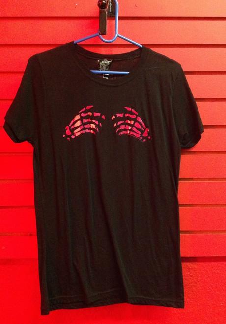 The Misfits Hands Girls Cut T-Shirt - Size Medium
