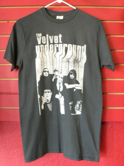 Velvet Underground with Nico Drippy Letters T-Shirt in Grey Medium