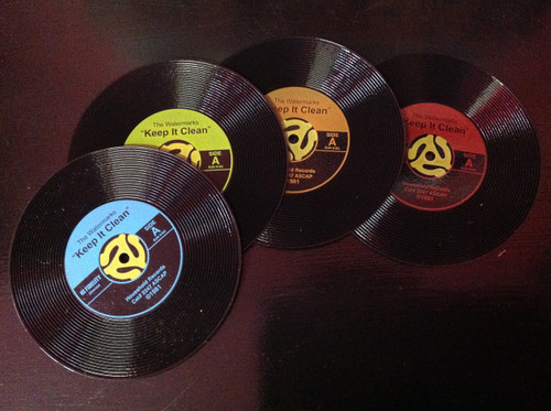 45 Records Coasters