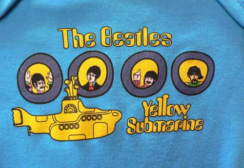 Beatles Yellow Submarine Portholes Baby Onesie