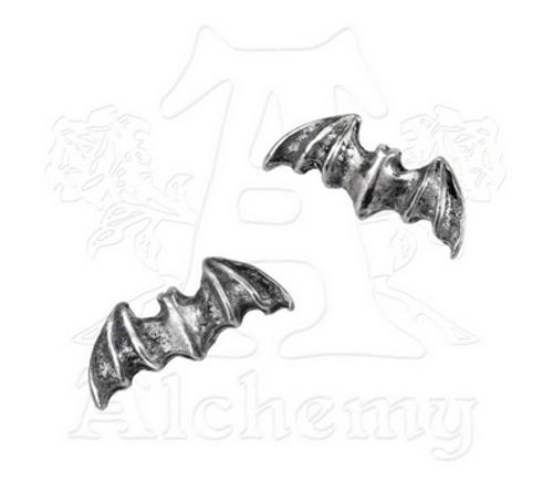 Alchemy of England English Pewter Bat Stud Earrings