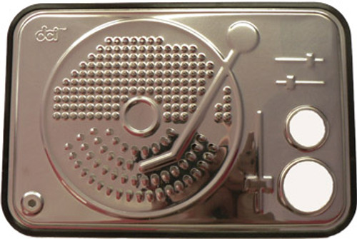 DJ Turntable Cheese Grater with Pasta Portion Measure Stainless Steel