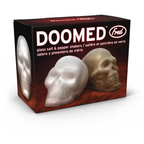 Doomed Glass Skull Salt and Pepper Shakers