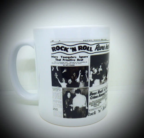 Vintage Look 50s Rock N Roll Headlines - Coffee / Tea / Beverage Mug