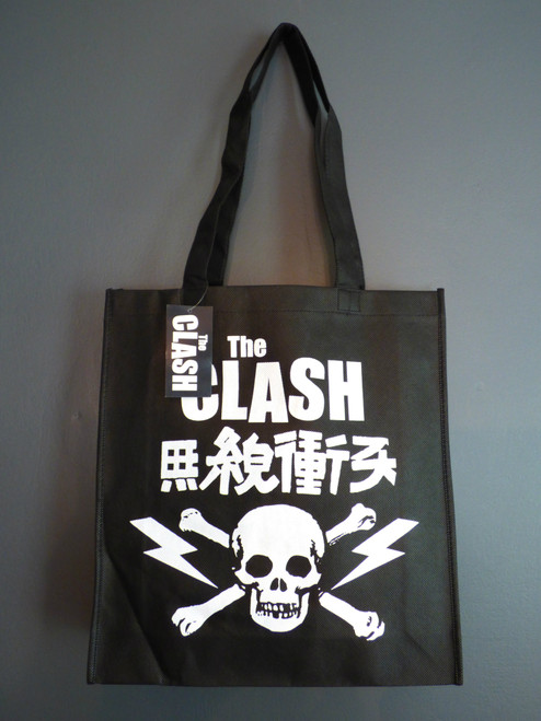 The Clash Skull Logo Eco Friendly Reusable Grocery Tote Bag