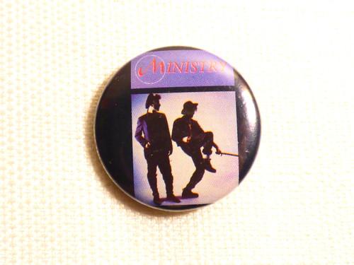 Ministry With Sympathy album pin / button / badge - Al Jourgensen