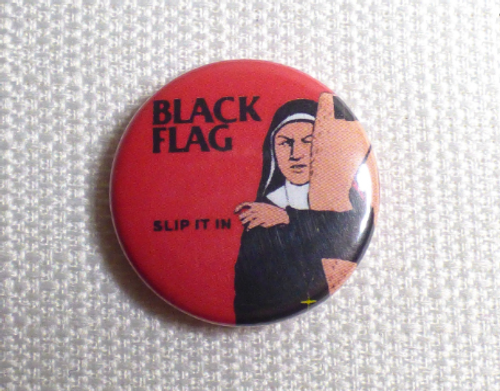 Vintage Early 90s Black Flag - Slip It In Album (1984) Pin / Button / Badge