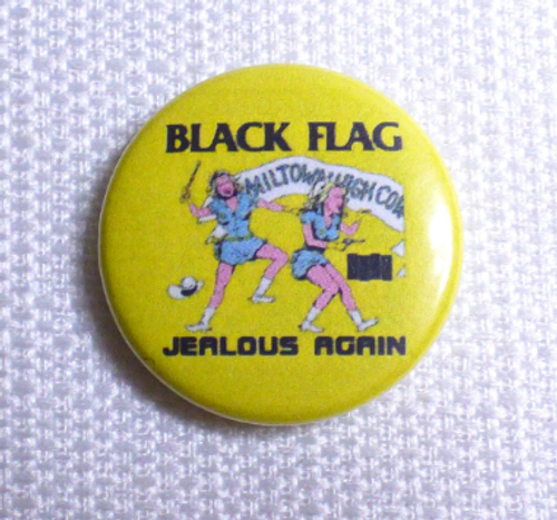 Vintage Early 90s Black Flag - Jealous Again EP (1980) - Pin / Button / Badge