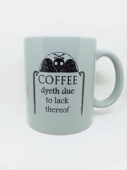 Gothic Winged Skull and Crossbones Colonial Gravestone - Coffee / Tea / Beverage Mug