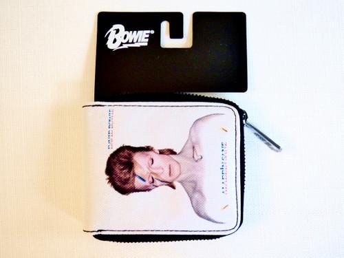 David Bowie Aladdin Sane Bi-fold Nylon Zip Wallet
