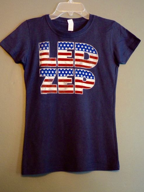 Led Zeppelin - Flag Logo - Girls Tee