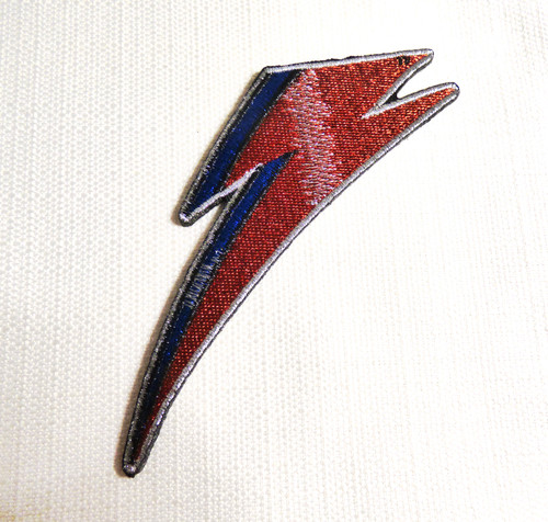 David Bowie / Ziggy Stardust / Aladdin Sane - Bolt Embroidered Patch