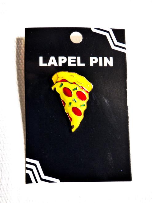 Enamel Pepperoni Pizza Slice Lapel Pin