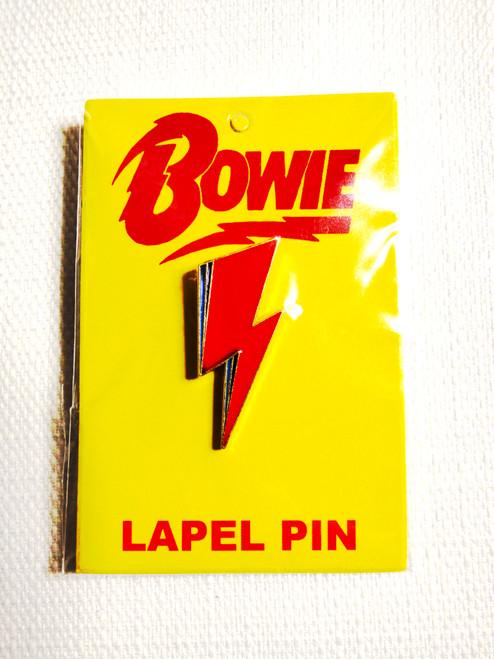 Enamel David Bowie Lightning Bolt Lapel Pin
