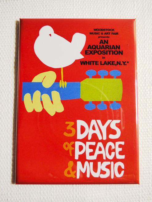 Woodstock Concert Poster Magnet