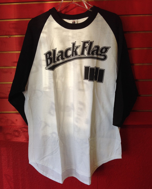 Black Flag Baseball T-Shirt - Size XL