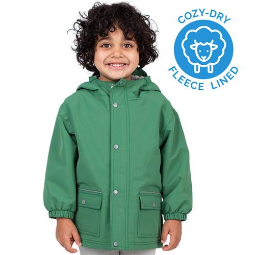 Fern Green Waterproof Jacket (4T-10Y)
