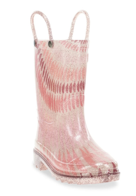 11K-1Y Rose Lighted Rain Boots