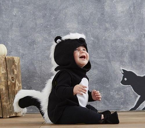 0-6M Pottery Barn Kids Skunk Costume