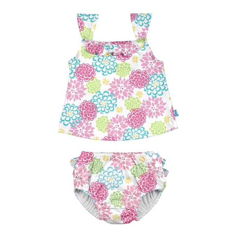 Girls' Swimsuit Set - 3T White Zinnia