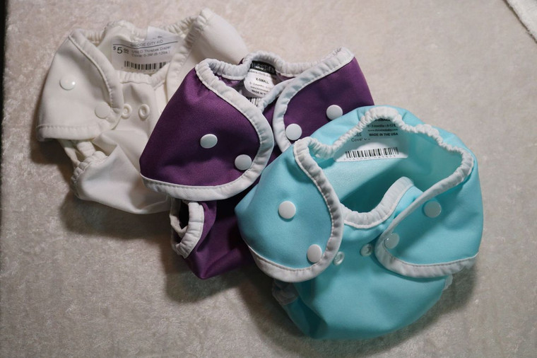 USED Thirsties 3pc Diaper Covers 0-3M (6-12lbs.)