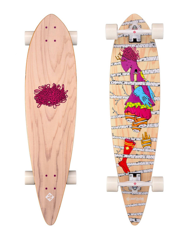 Longboard Pintail 40'' Artist Series: Woods (Store Demo)