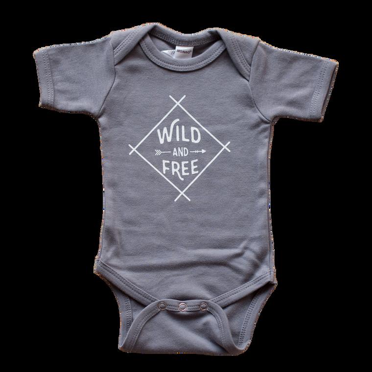 Wild & Free Bodysuit (0-3M, 3-6M, 6-12M)