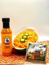 Clucker's Angry Mac & Cheese with our Habanero Honey Mustard and  Jalapeno Seasoning Mix.