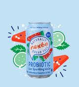 Nexba Watermelon, Cucumber & Mint Probiotic Sparkling Water 375ml Burst