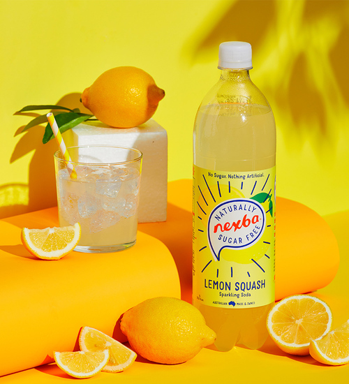Nexba Lemon Squash Soft Drink 1L Lifestyle