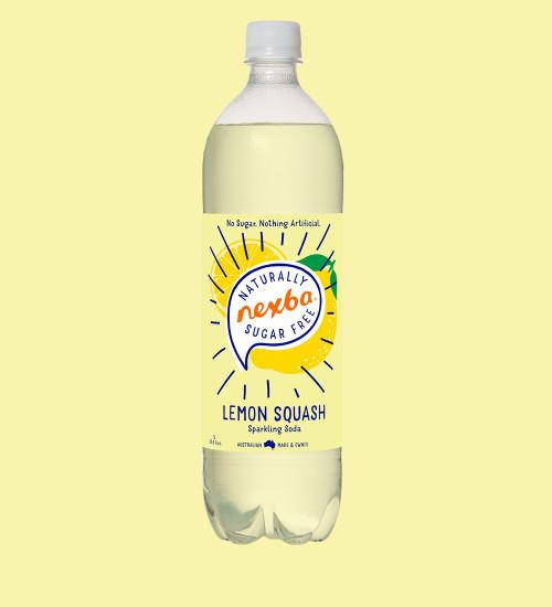 Nexba Lemon Squash Soft Drink 1L Plain