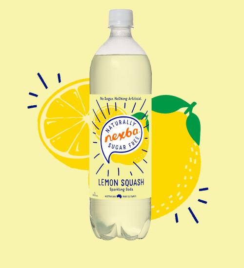 Nexba Lemon Squash Soft Drink 1L Burst