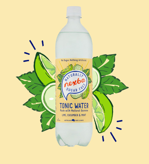 Nexba Lime, Cucumber & Mint Tonic Water 1L Burst