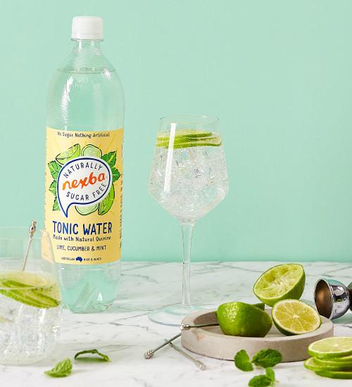 Nexba Lime, Cucumber & Mint Tonic Water 1L Lifestyle