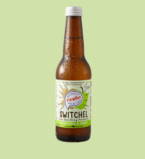 Nexba Green Apple & Ginger Switchel 330ml Plain