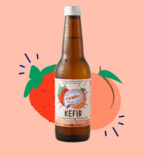 Nexba Strawberry & Peach Kefir 330ml Burst