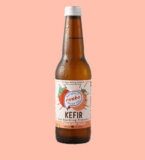 Nexba Strawberry & Peach Kefir 330ml Plain