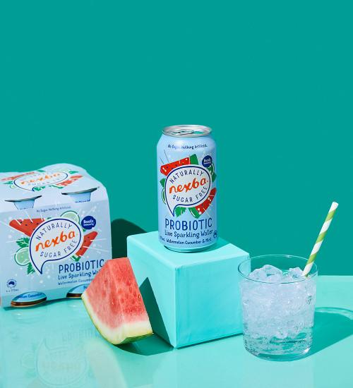 Nexba Watermelon, Cucumber & Mint Probiotic Sparkling Water 375ml Lifestyle