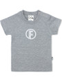 Grey T-shirt with Standard White print