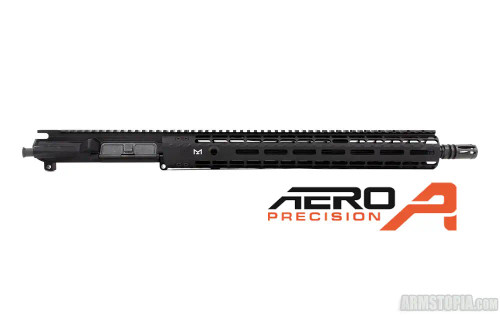 M4E1 ENHANCED 16in .300 Blackout Complete Upper Receiver w/ 15in M-LOK ENHANCED Handguard – BLACK