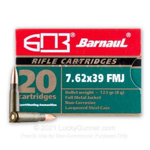 Barnaul 7.62x39 FMJ 1,000-rd Case