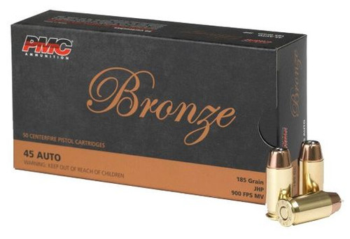 PMC AMMO .45ACP 185GR. JHP 50-rds (RANGE MEMBERS ONLY)