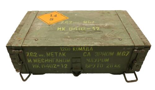 1260 Round Crate - 7.62x39 M67 Non-magnetic Copper FMJ Brass Case Corrosive Yugoslavian Military Surplus Ammo